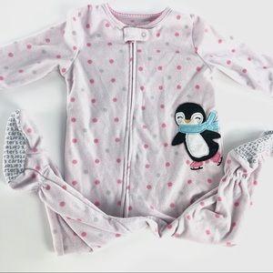 """Carters pink """"penguin"""" sleeper"""